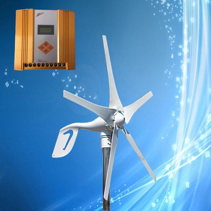 400W 12V/24V Wind Turbine Generator + MPPT Wind/Solar Hybrid Controller